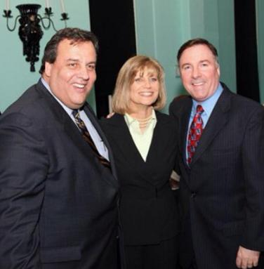 NJ Governor Chris Christie with Margie and Harry Hurley